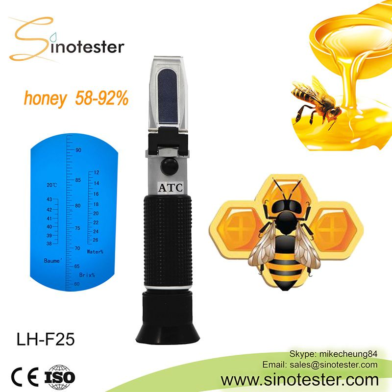 6e72ea59d3a ... LH-F92 SINOTESTER 58-92% beekeeping equipment baume water refractometer  honey test ...